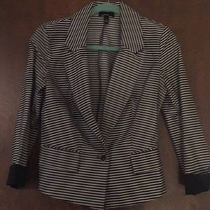 Jackets & Blazers - Black and white striped blazer